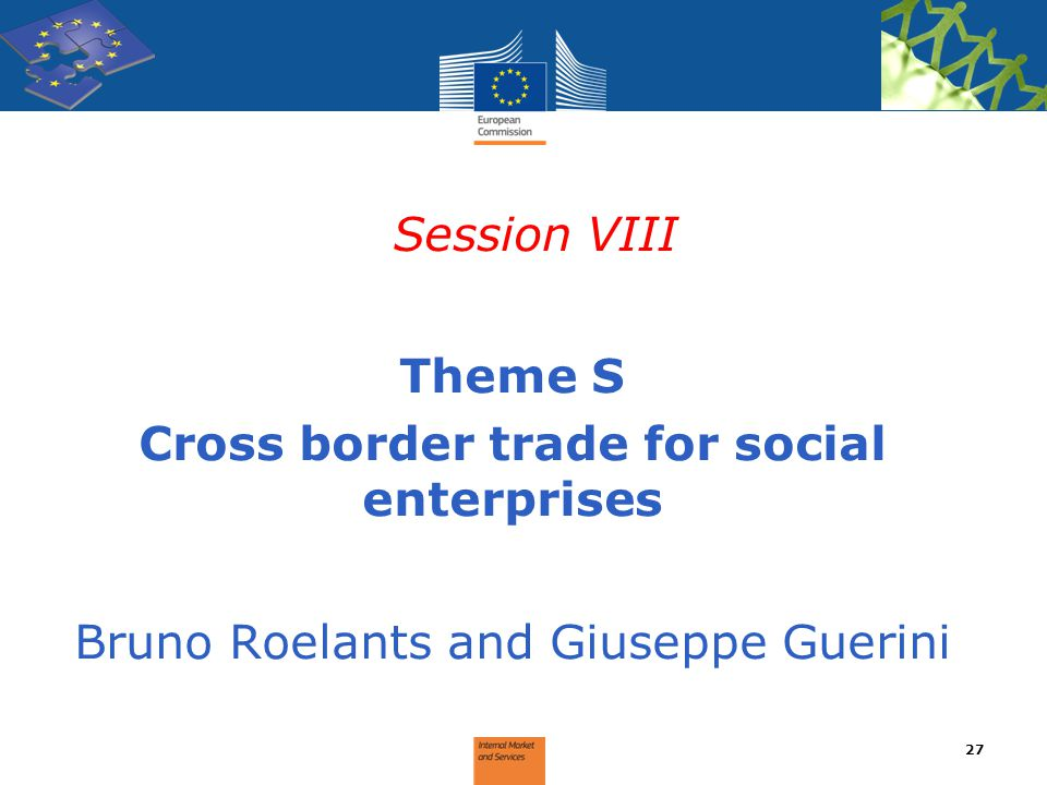 Cross border trade for social enterprises