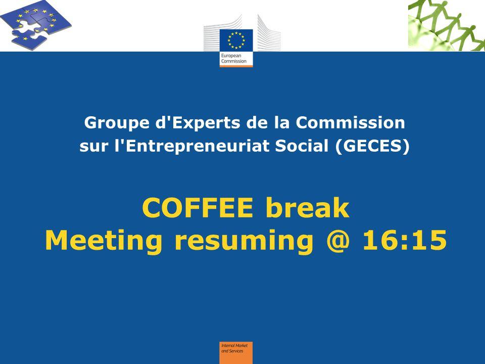 COFFEE break Meeting resuming @ 16:15