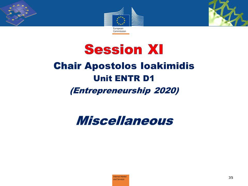 Chair Apostolos Ioakimidis