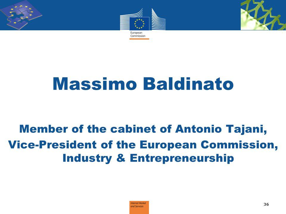 Massimo Baldinato Member of the cabinet of Antonio Tajani,