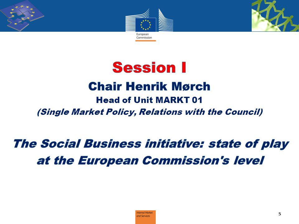 Session I Chair Henrik Mørch