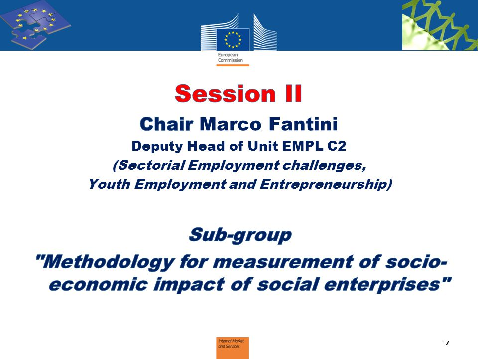 Session II Chair Marco Fantini Sub-group