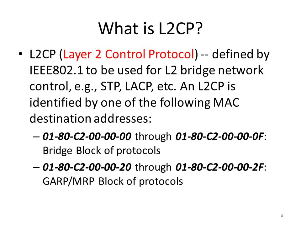 What is L2CP