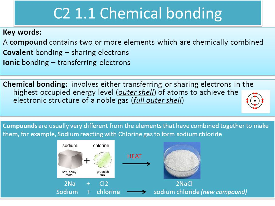 C2 1.1 Chemical bonding