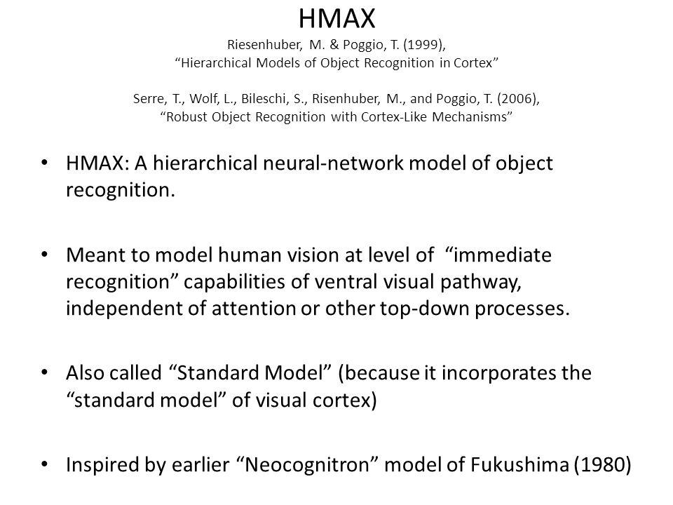 HMAX Riesenhuber, M. & Poggio, T