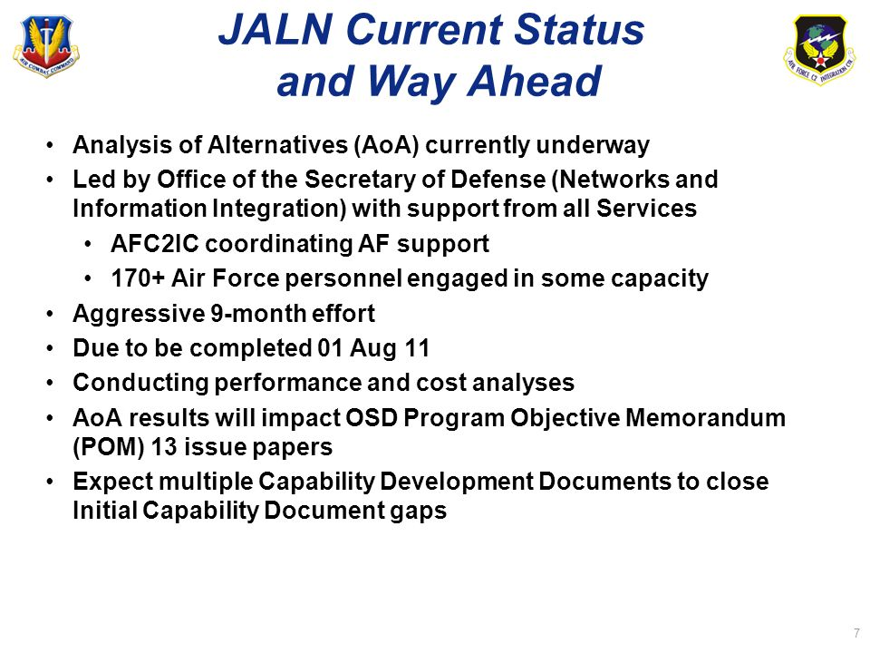 JALN Current Status and Way Ahead