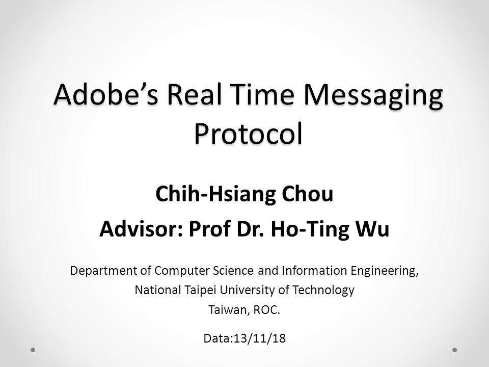 Adobe's Real Time Messaging Protocol