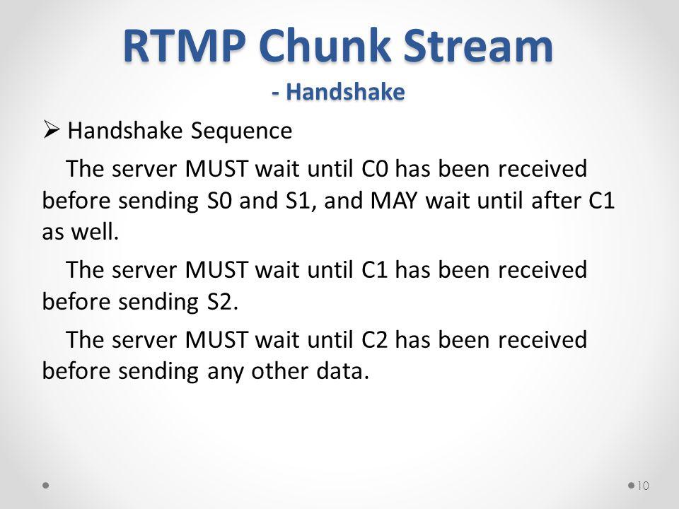 RTMP Chunk Stream - Handshake