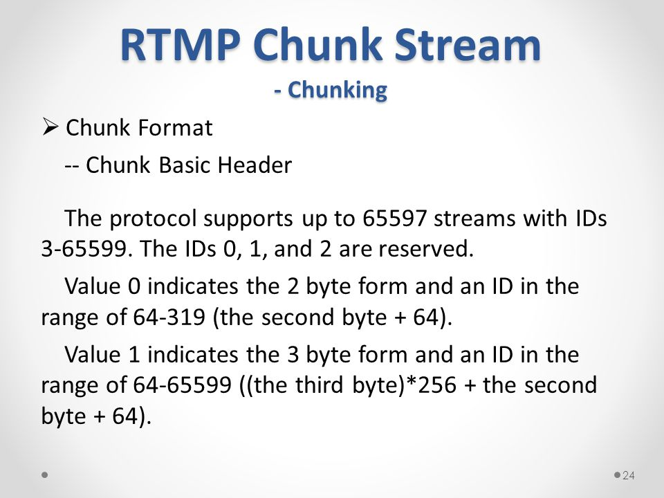 RTMP Chunk Stream - Chunking
