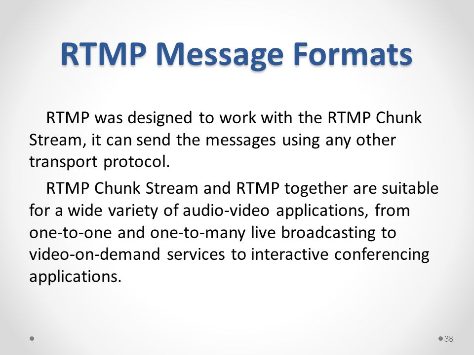 RTMP Message Formats