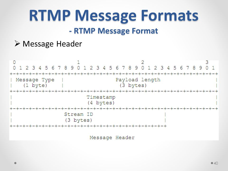 RTMP Message Formats - RTMP Message Format