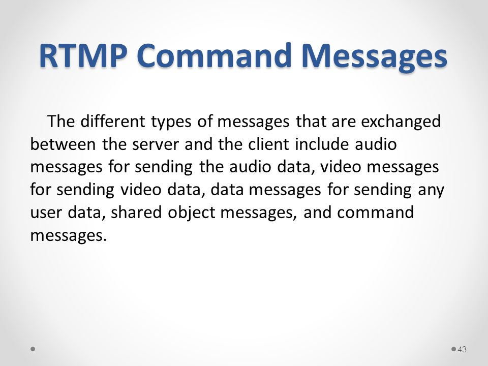 RTMP Command Messages
