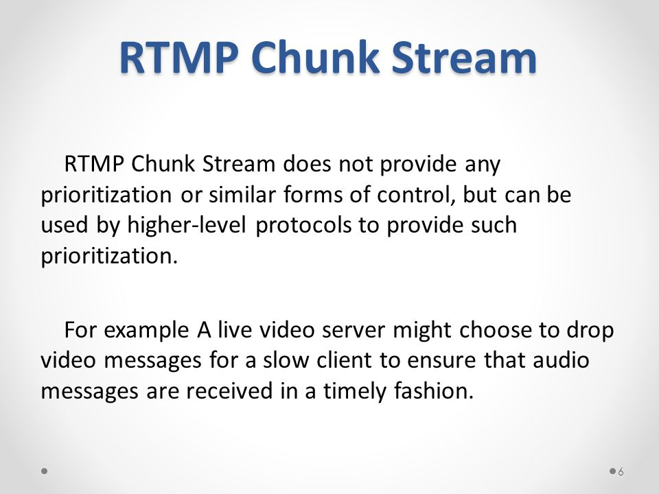 RTMP Chunk Stream