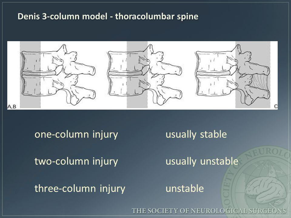 Denis 3-column model - thoracolumbar spine