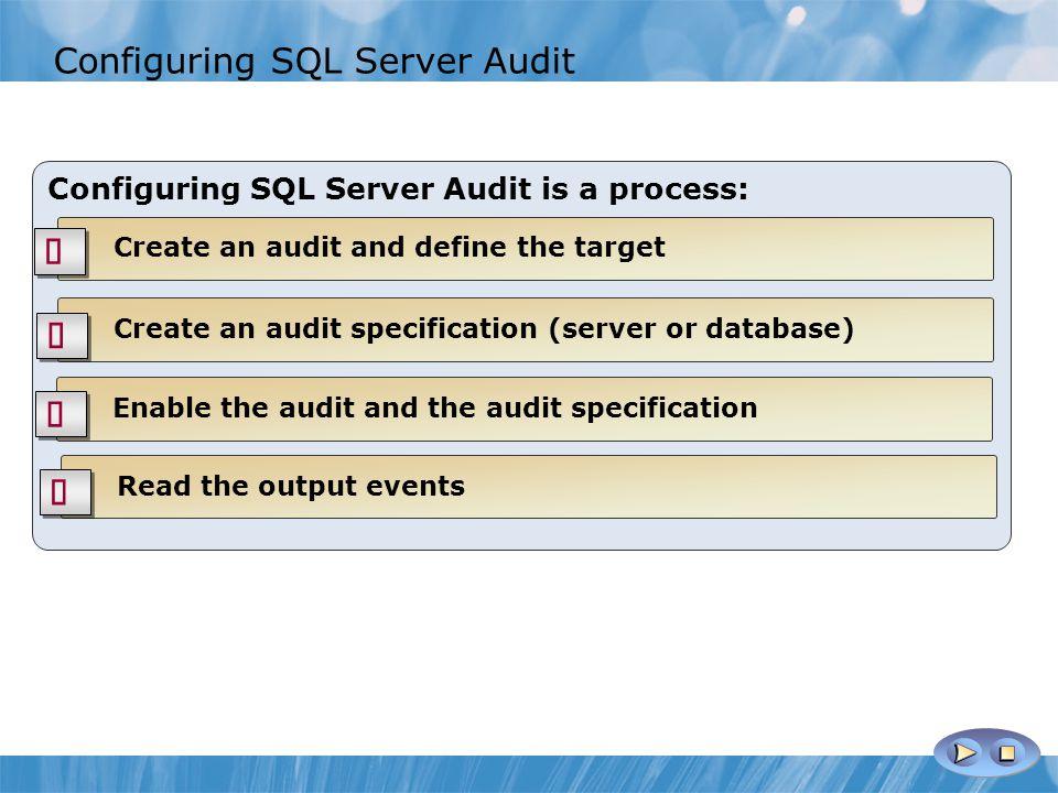 Configuring SQL Server Audit