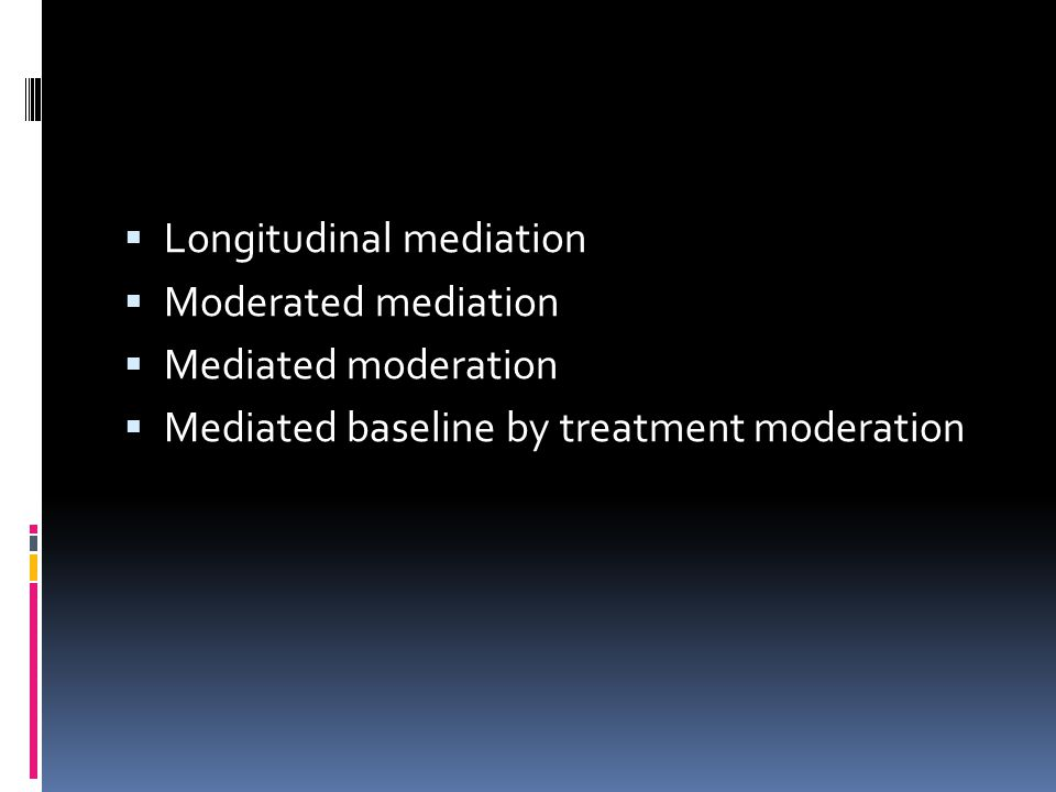 Longitudinal mediation