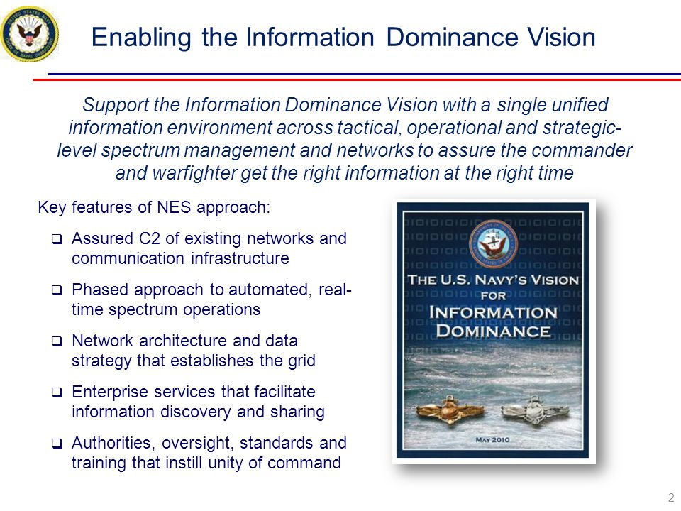 Enabling the Information Dominance Vision