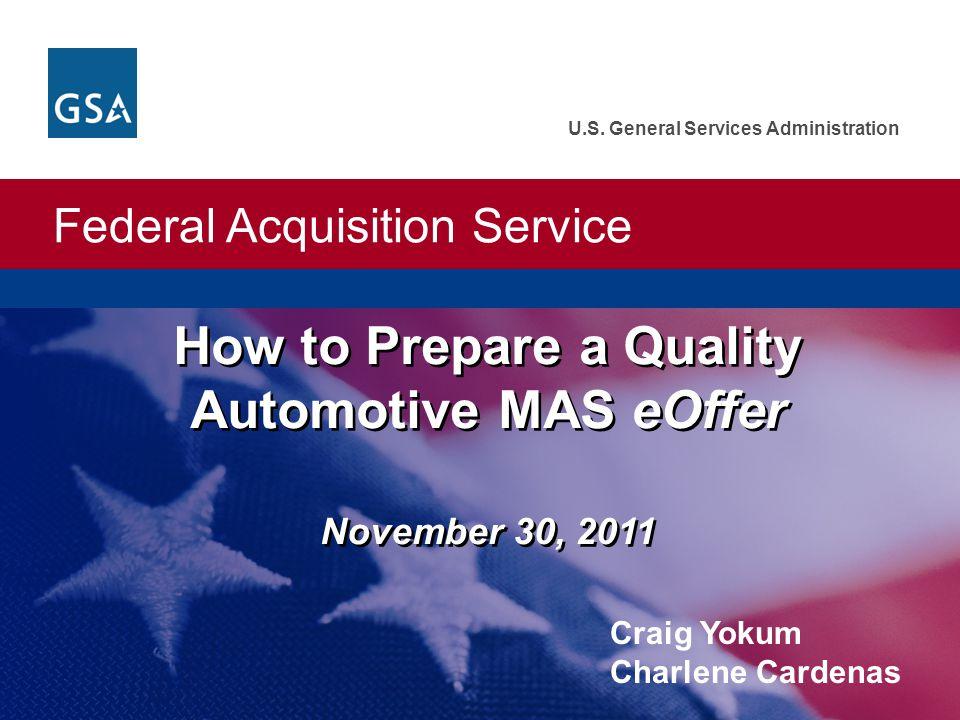 How to Prepare a Quality Automotive MAS eOffer