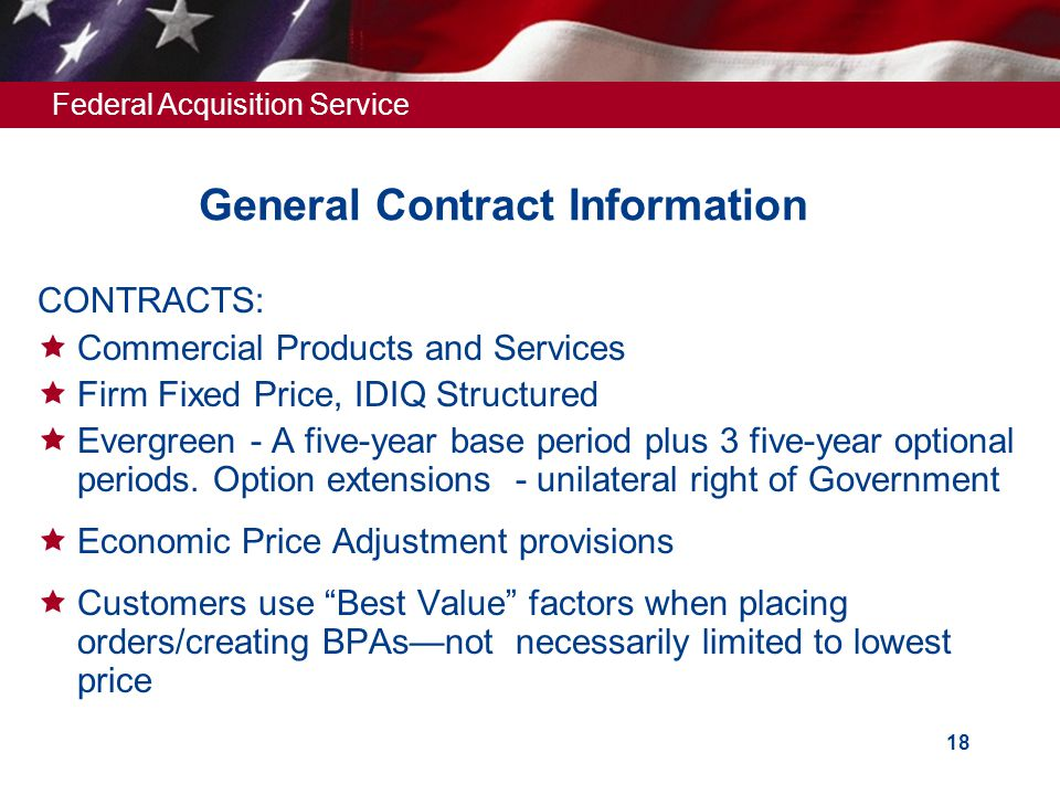General Contract Information