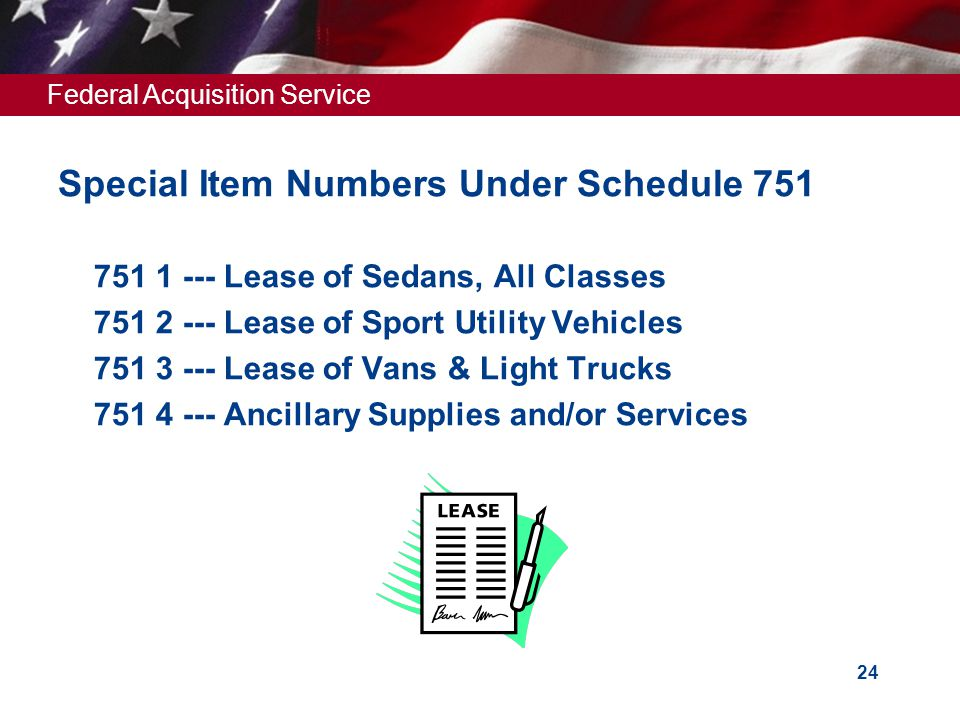 Special Item Numbers Under Schedule 751