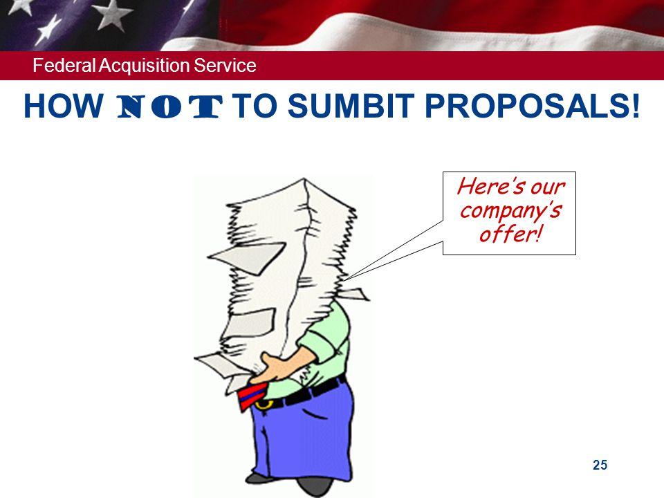 HOW Not TO SUMBIT PROPOSALS!