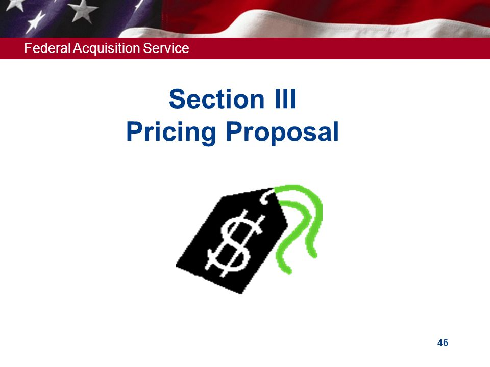 Section III Pricing Proposal