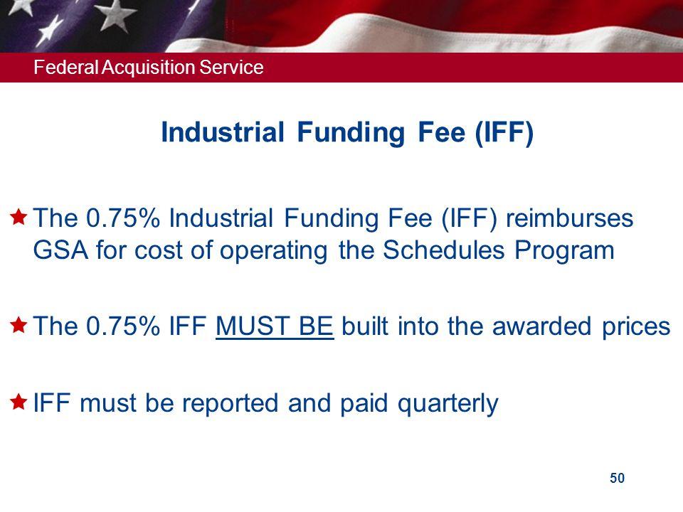 Industrial Funding Fee (IFF)