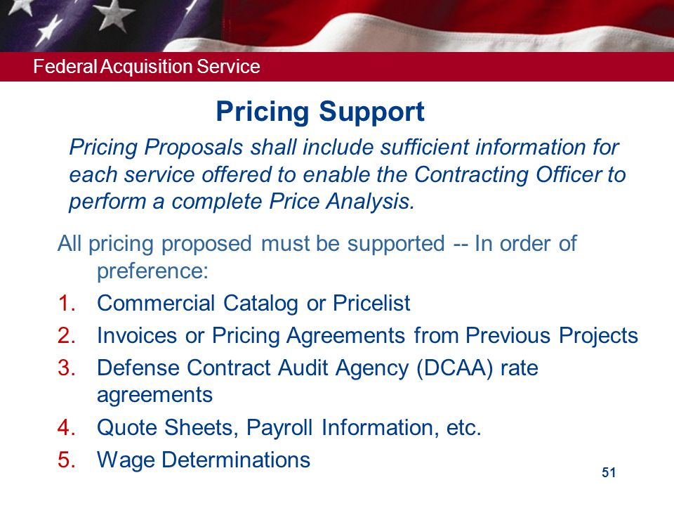 Pricing Support