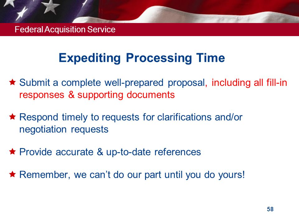 Expediting Processing Time