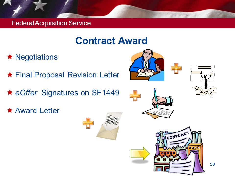 Contract Award Negotiations Final Proposal Revision Letter