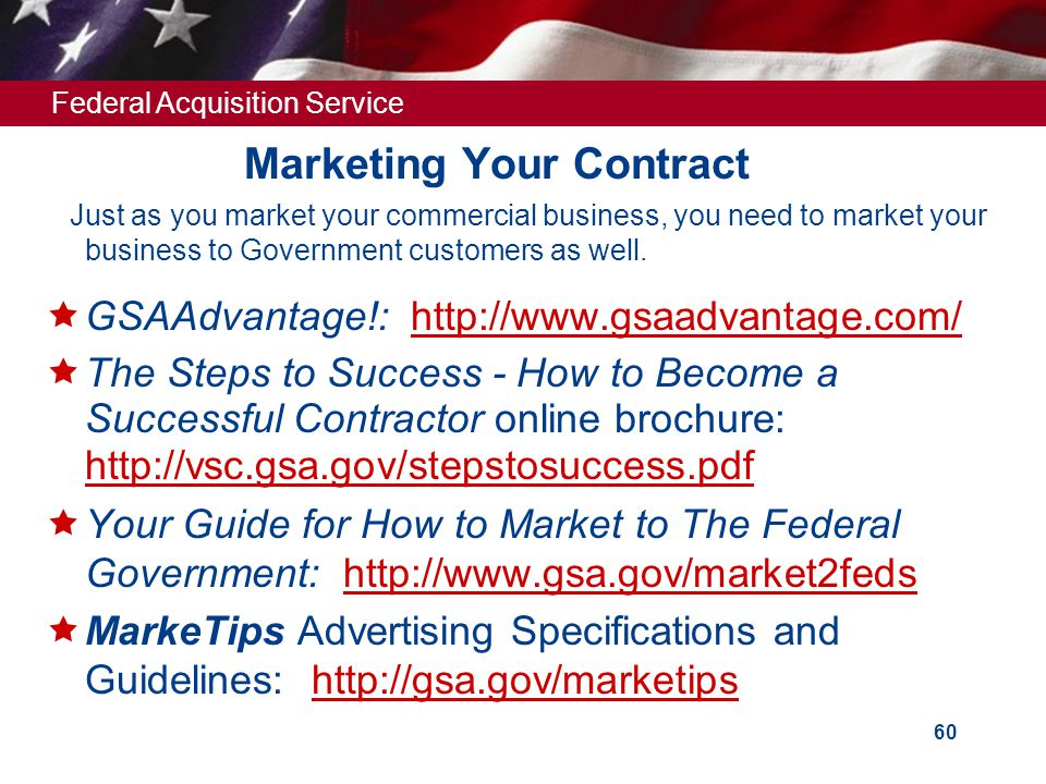 Marketing Your Contract