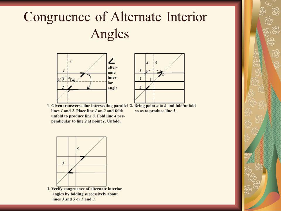 Congruence of Alternate Interior Angles