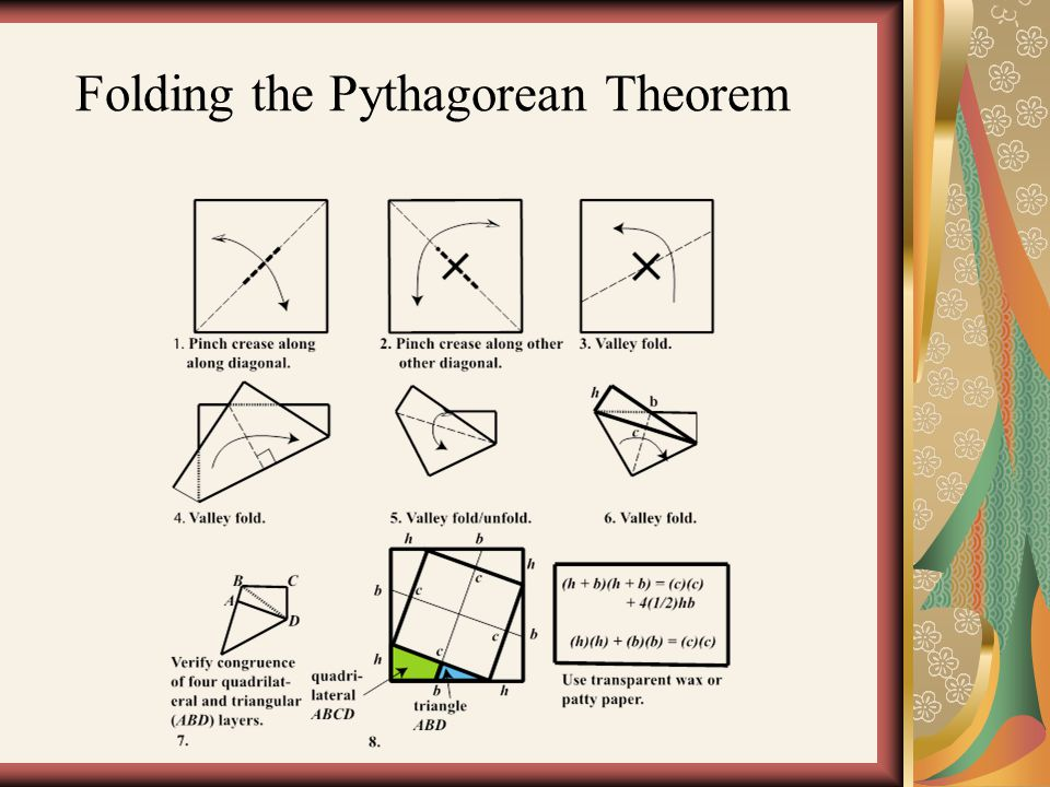 Folding the Pythagorean Theorem