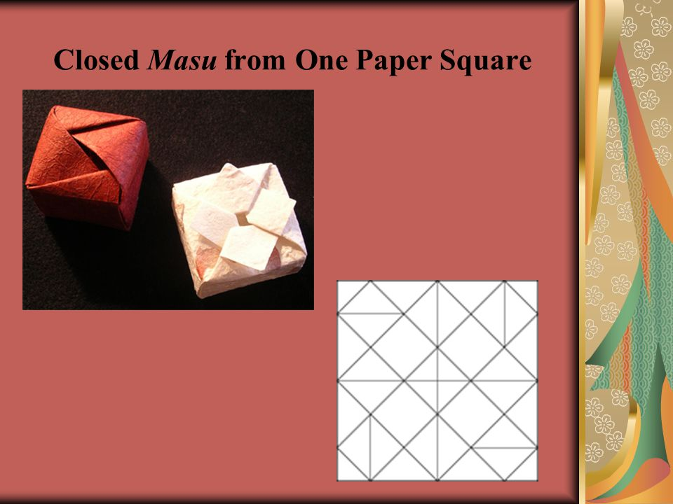 Closed Masu from One Paper Square