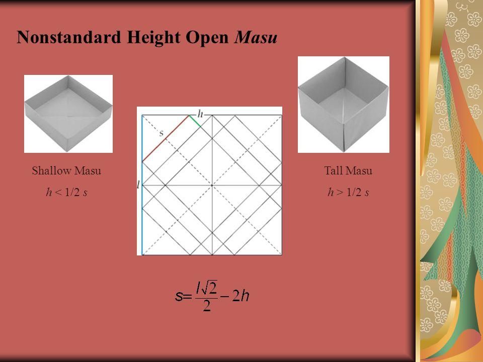 Nonstandard Height Open Masu