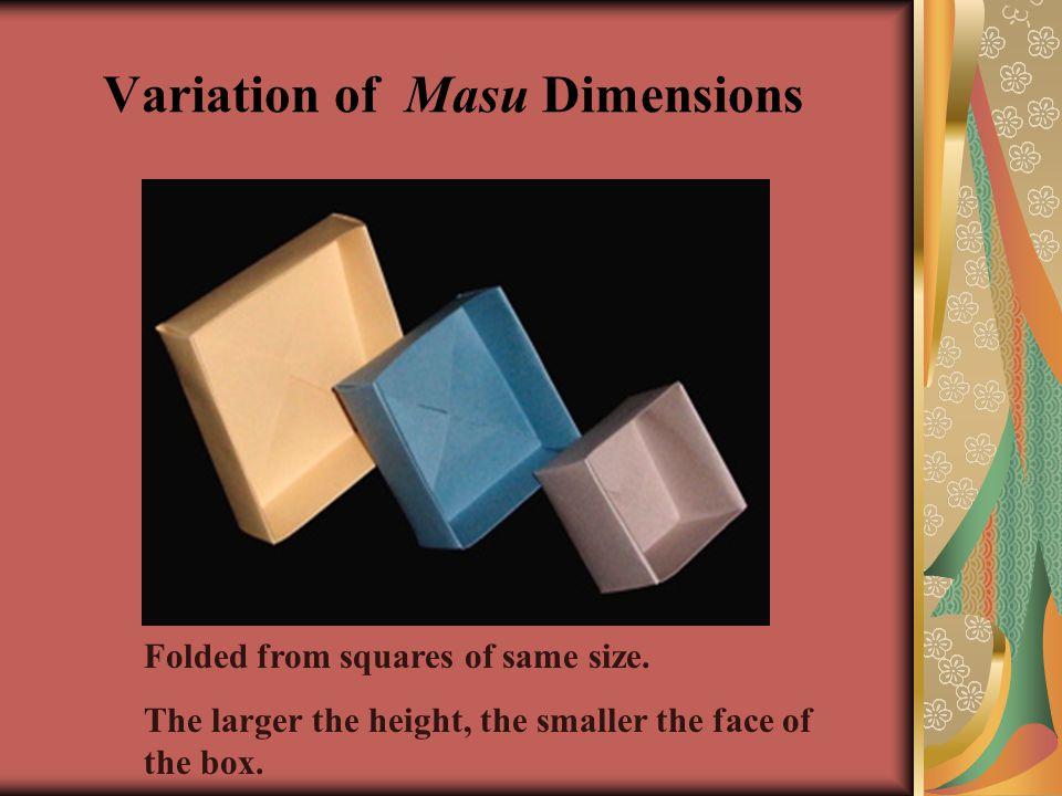 Variation of Masu Dimensions
