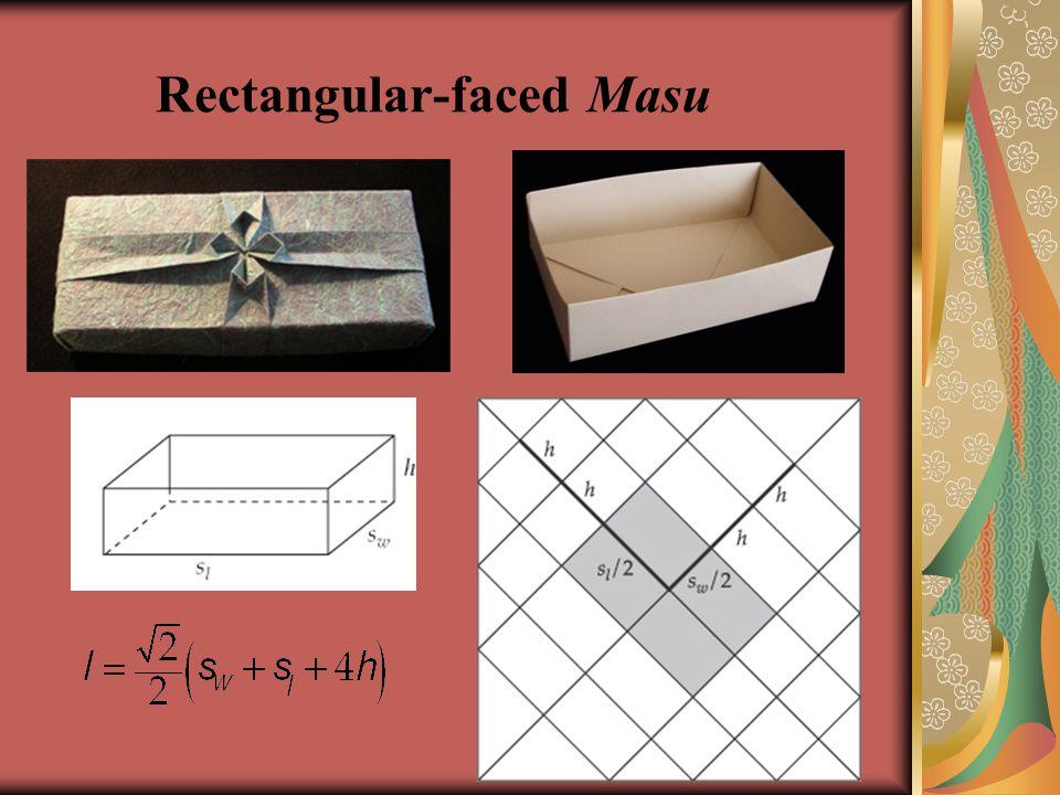 Rectangular-faced Masu