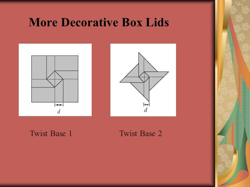 More Decorative Box Lids