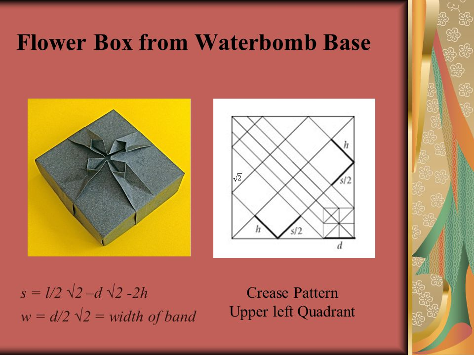 Flower Box from Waterbomb Base