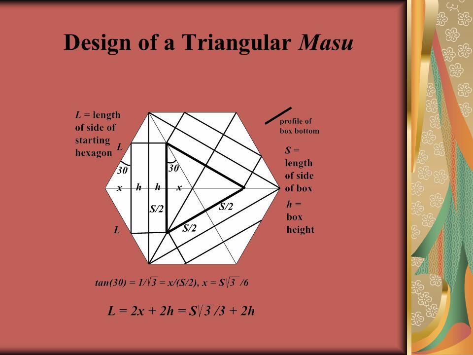 Design of a Triangular Masu