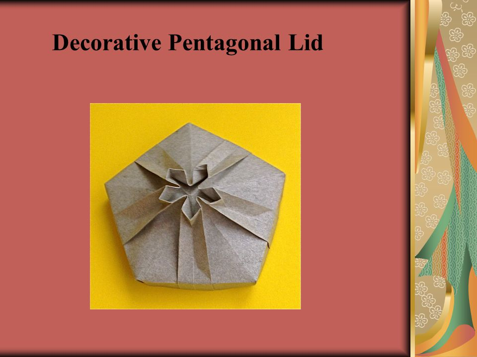 Decorative Pentagonal Lid