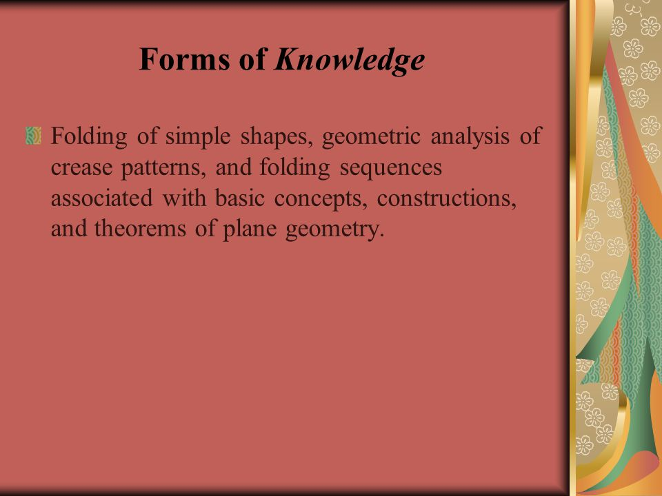 Forms of Knowledge