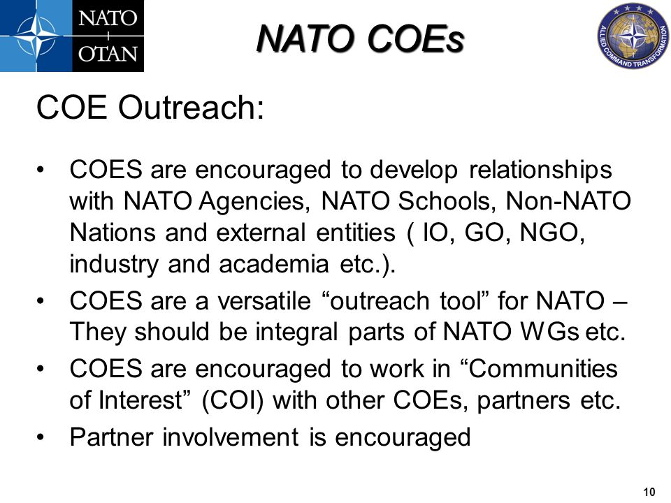 COE Outreach: