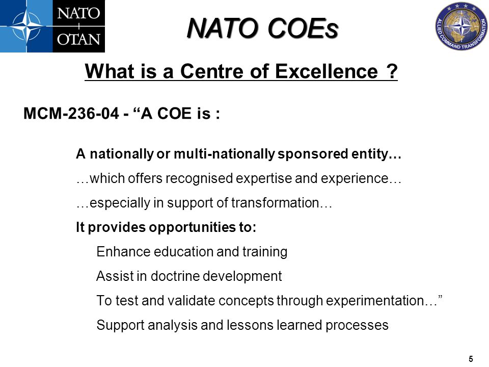 What is a Centre of Excellence