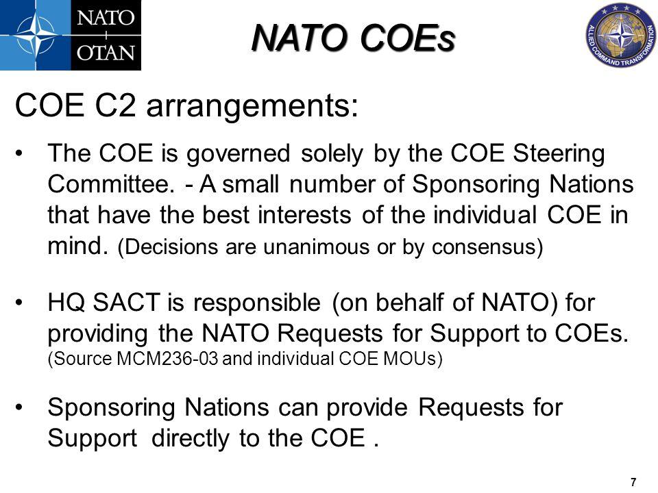 COE C2 arrangements:
