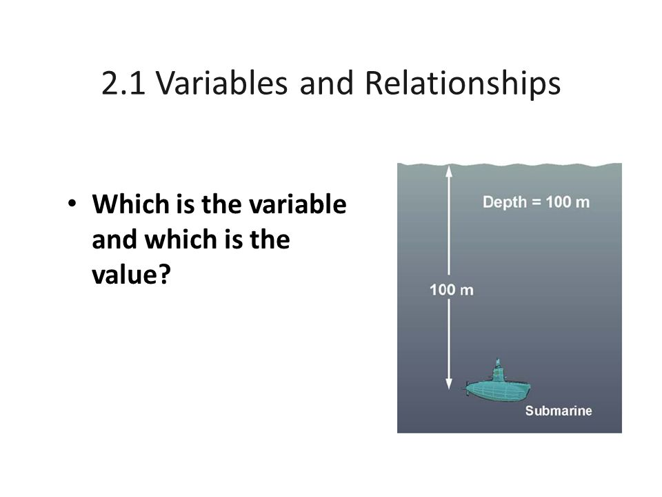 2.1 Variables and Relationships