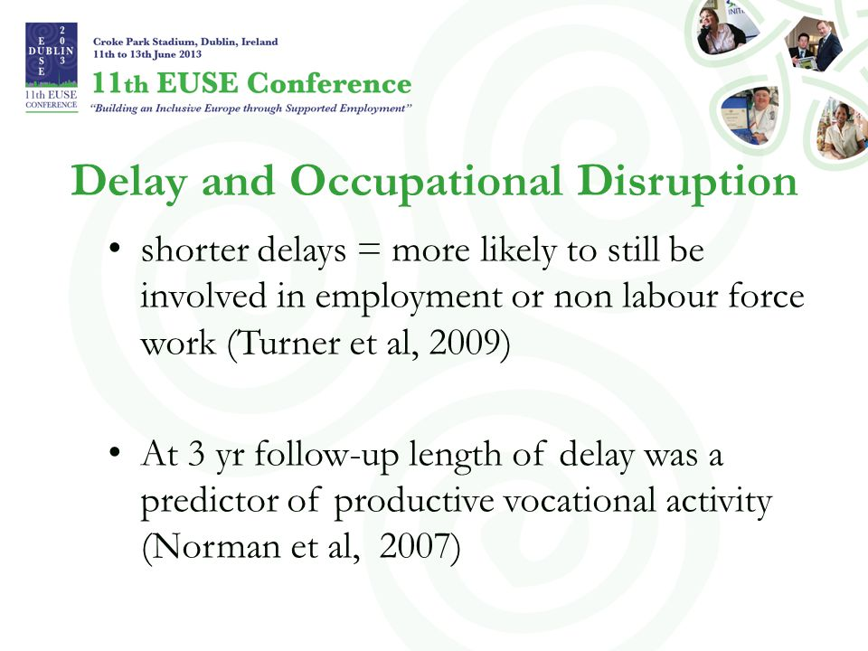 Delay and Occupational Disruption