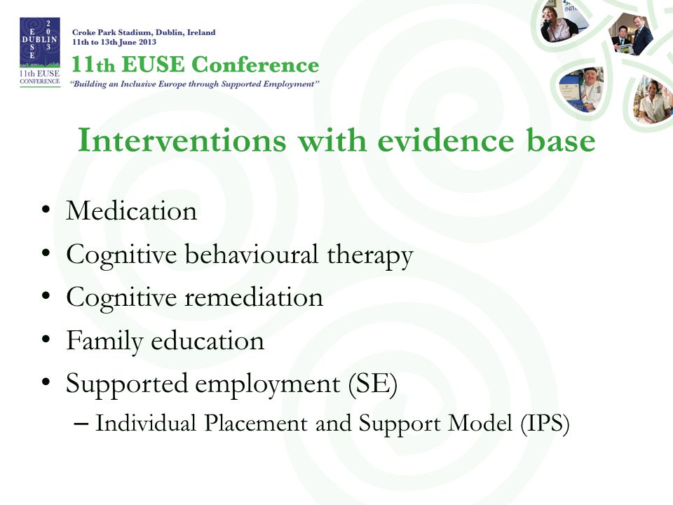 Interventions with evidence base