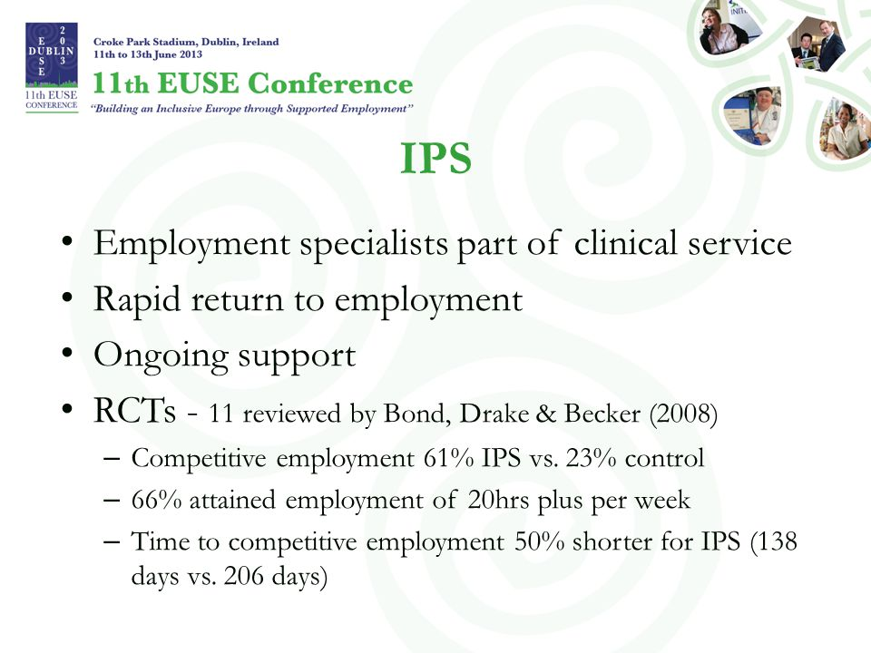 IPS Employment specialists part of clinical service
