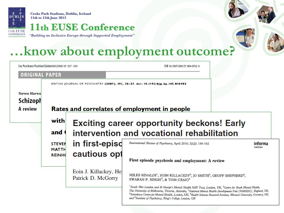 …know about employment outcome